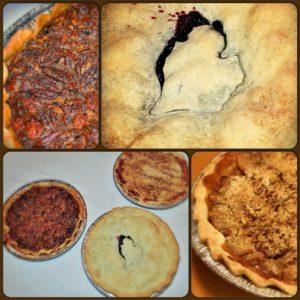 blueberry pie dutch apple pie and Pecan